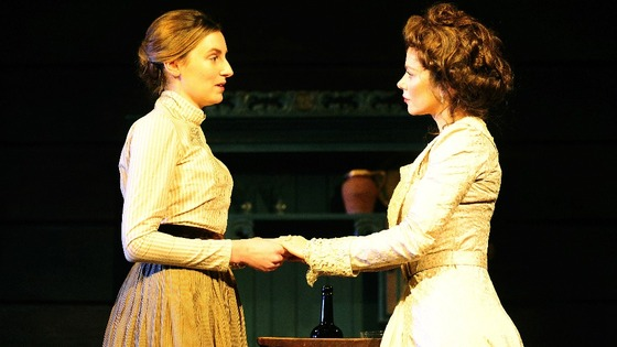 Laura Carmichael starring as Sonya (left), and Anna Friel as Yelena in the Anton Chechov play Uncle Vanya.