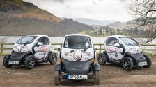 Twizy electric vehicles at Ullswater