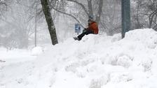 A snow mound