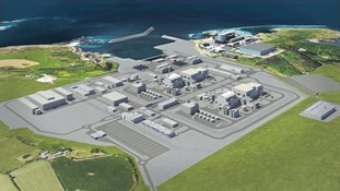 Nuclear power station at Wylfa Newydd.