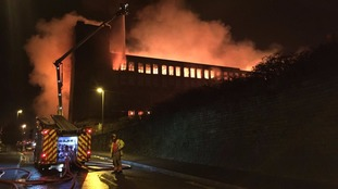 Firefighters tackle major fire at paper mill in Oldham