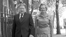 Lord McAlpine with Margaret Thatcher in 1975