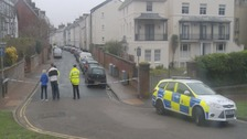 Police cordon at Dudley Road