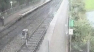 Appeal as 'mindless' couple carry baby across Dinas Powys train tracks