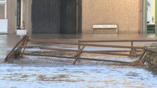 Workington was one of the areas to be flooded.