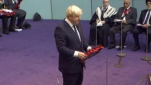 London Mayor Boris Johnson at GLA Remembrance Service.
