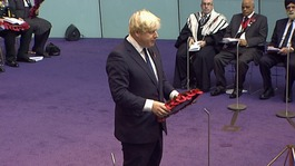 London Mayor Boris Johnson at GLA Remembrance Service.