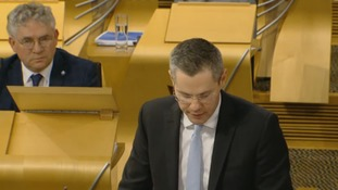 Derek Mackay delivers the budget.