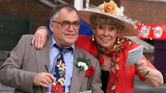 Coronation Street stars Bill Tarmey and Liz Dawn (Jack and Vera Duckworth)
