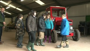 Children learning more about farming