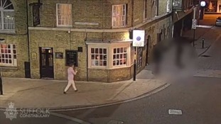 CCTV of him on the night he went missing.