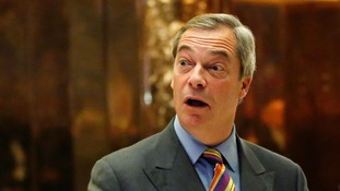 Nigel Farage pays a visit to Trump Tower - but it's unclear if he met with President-elect