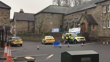 The scene in Rothbury.
