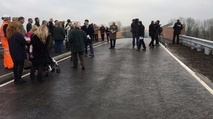 Survivors of rail disaster welcome Ufton Nervet bridge opening