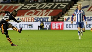 Christian Atsu scoring against Wigan