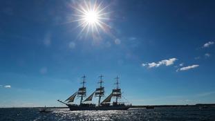 The Dar Mlodziezy during the Tall Ships Regatta in Blyth.