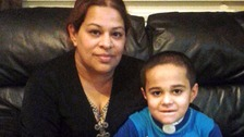 Ayman's mother, Saira, spoke out after learning another child had been burned in similar circumstances