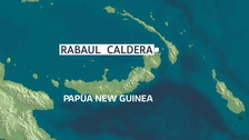 The earthquake struck about 157km east of Rabaul