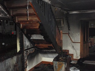 Interior fire damage