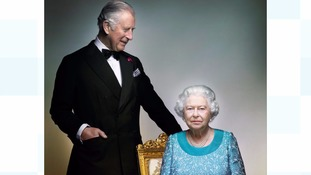 Photo of Queen and Prince Charles marks end of 90th year
