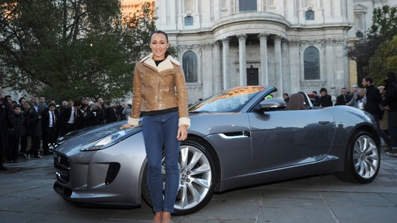 Olympic gold medallist Jessica Ennis poses with the new Jaguar F-Type car as she announces her role in The Lord Mayor's Show last week.