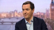 Mr Osborne said he had not been a 'great fan' of holding a referendum on Eu membership