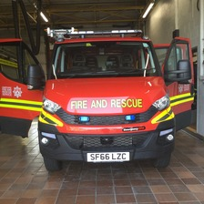 New slimline fire engine