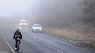 Cars in fog