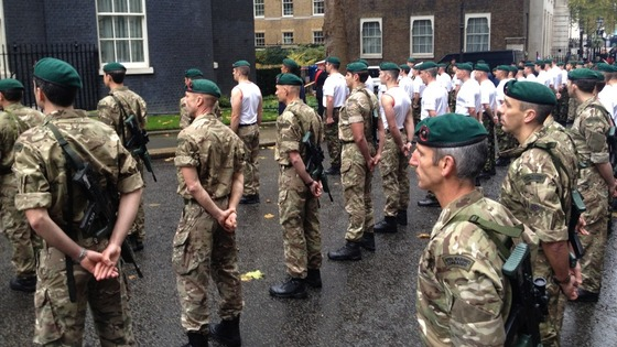 Marines at Downing Street