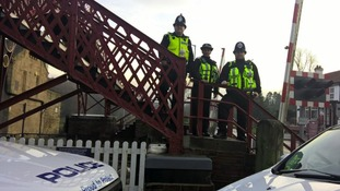 Wylam Railway Station Sgt Mick Quinn Northumbria Police, PC Hazel Timlin BTP and PC Graham Marshall BTP