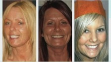(Left to right) Susan McGoldrick, Alison Turnbull, Tanya Turnbull died of shotgun wounds