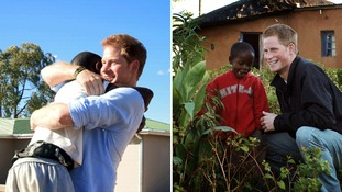 Emotional moment Prince Harry is reunited with orphan he first met 12 years ago