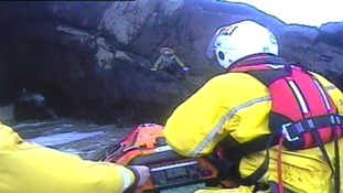 Dramatic cave rescue for woman who was trapped overnight