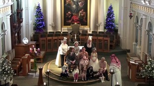 David Blamire and Chrissie Armstrong get married during nativity service