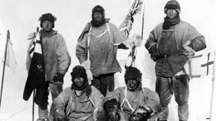 Captain Robert Falcon Scott and his team to the Antarctic, January 1912