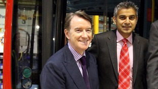 Lord Mandelson with Sadiq Khan in 2009