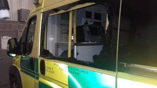 Ambulance attacked whilst patient receiving