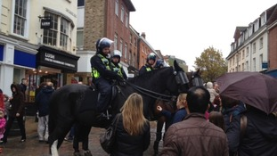 Mounted police in Norwich