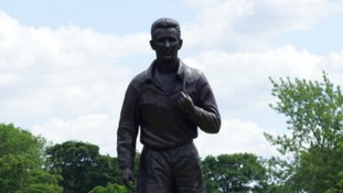 The statue of Brian Clough in Albert Park in Middlesbrough