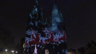 Lichfield Cathedral turned into light spectacle