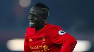 Sadio Mane scored in injury time. Photo: PA