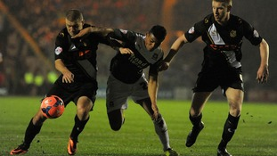 Isaac Vassell (centre) playing for Plymouth earlier in his career.