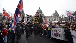 Loyalist flag protest