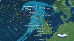 The second named storm of winter is heading toward the UK on Friday and Christmas Eve.