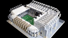 Lego model of St James' Park