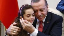 Bana al-Abed meets Turkish President Recep Tayyip Erdoğan.