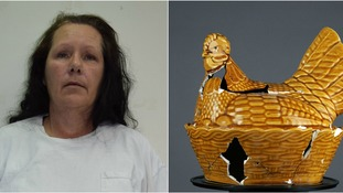 Woman handed life sentence for murdering sister with chicken-shaped ceramic pot