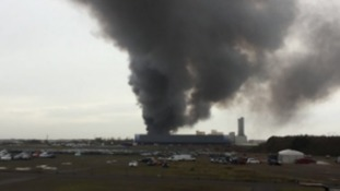 Huge fire breaks out on Corby industrial estate