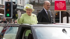 The Queen and the Duke of Edinburgh pictured during the Queen's 90th birthday celebrations.