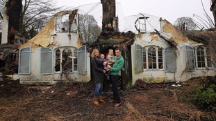 Family homeless for Christmas after 'dream home' burns down just three days after they move in